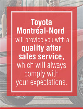 Quality service right here at Toyota Montréal-Nord